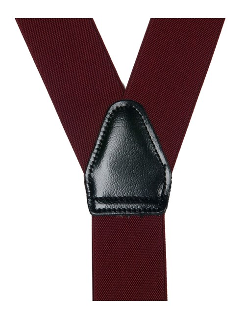 Men's Quality Plain Burgundy Braces
