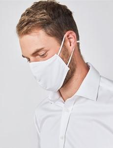 Mund-Nasen-Schutz aus Stoff – Behelfsmundschutz – Baumwolle dreilagig – weiß