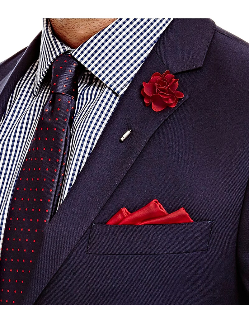 Lapel Flower Pin for Men Red,Blue,White
