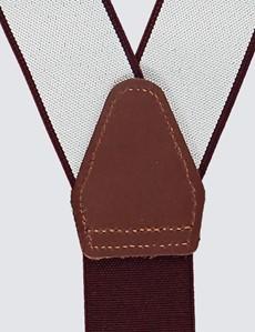 Men's Quality Plum Braces