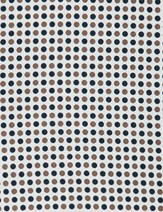 Men's Navy & Brown Spotted Pocket Square - 100% Silk
