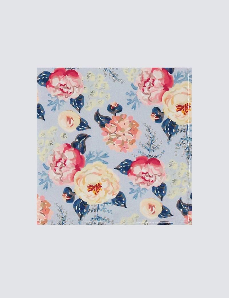 Men's Grey & Pink Handkerchief  - 100% Cotton