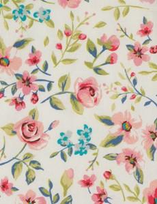 Men's White & Pink Handkerchief  - 100% Cotton