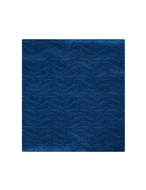 Men's Royal Blue Paisley Pocket Square - 100% Silk