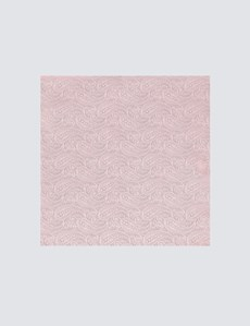 Men's Light Pink Paisley Pocket Square - 100% Silk