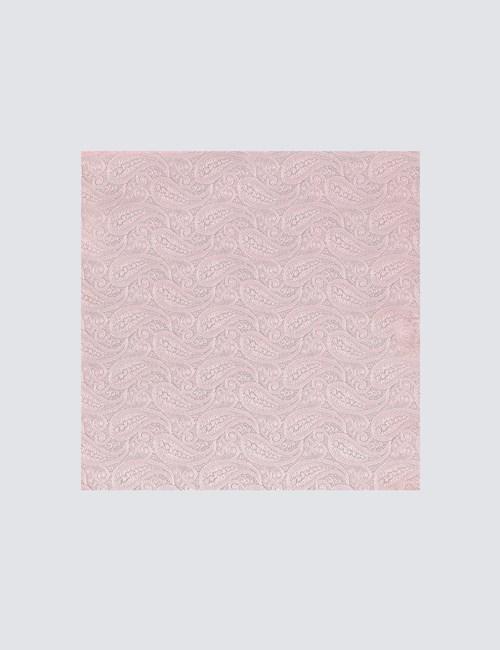 Men's Light Pink Paisley Pocket Square - 100% Silk