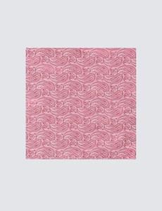 Hochzeits Kollektion – Einstecktuch – Seide – Paisley rosé