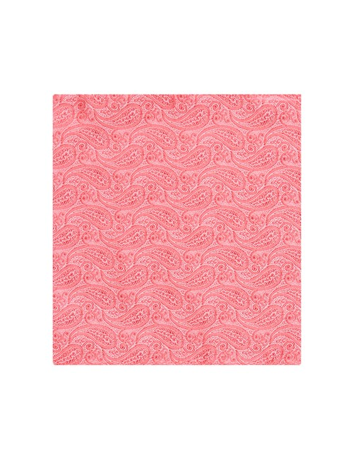 Men's Coral Paisley Pocket Square - 100% Silk