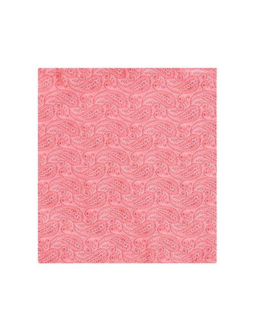 Hochzeits Kollektion – Einstecktuch – Seide – Paisley koralle