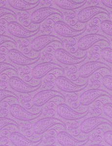 Men's Luxury Lilac Paisley Handkerchief - 100% Silk