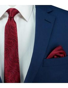 Hochzeits Kollektion – Einstecktuch – Seide – Paisley rot