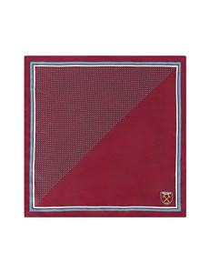 Limited Edition – West Ham United – Einstecktuch – Seide – Burgunder
