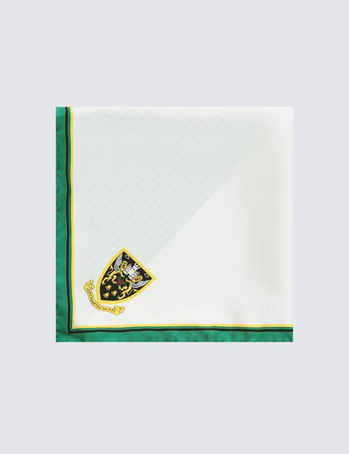 Men's Green, Black & Gold Northampton Saints Pocket Square - 100% Silk