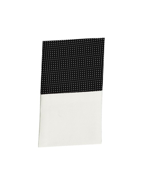 Black & White Pin Dot Pocket Square - 100% Silk