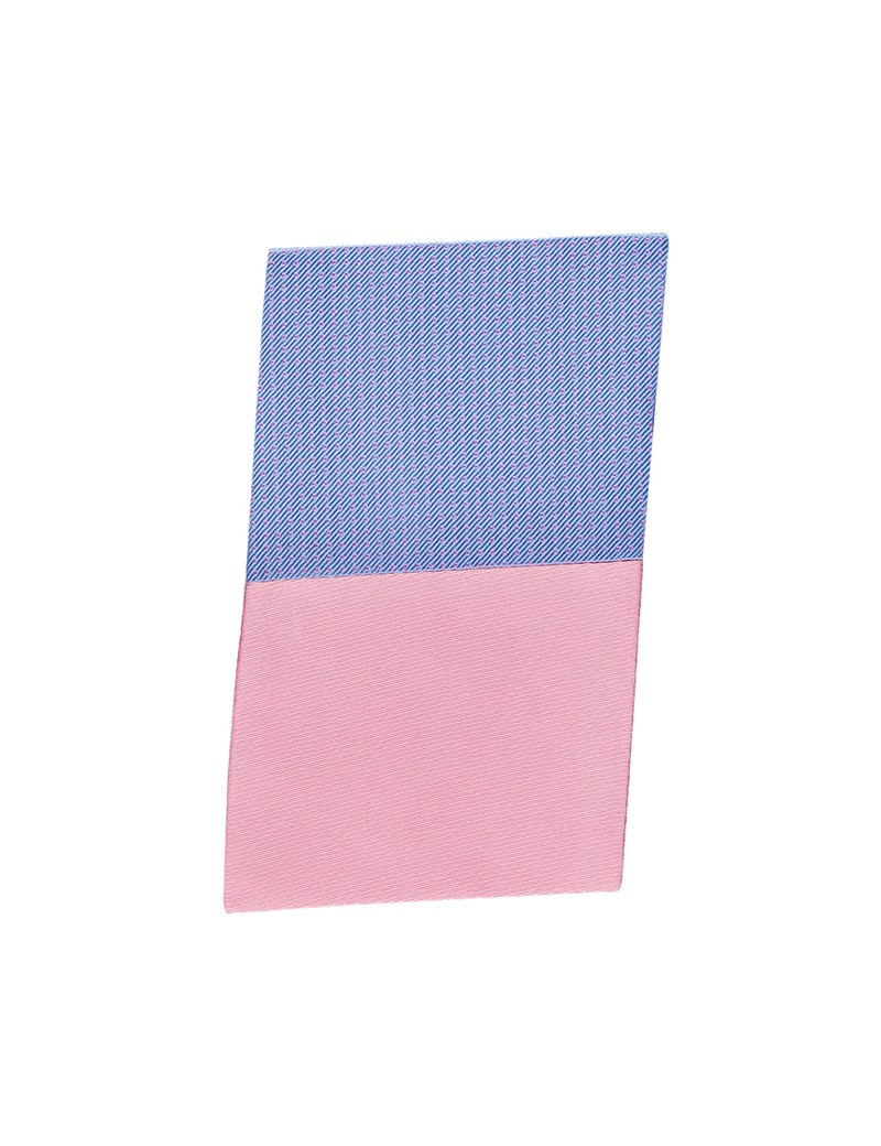 Light Blue & Light Pink Pin Dot Pocket Square - 100% Silk