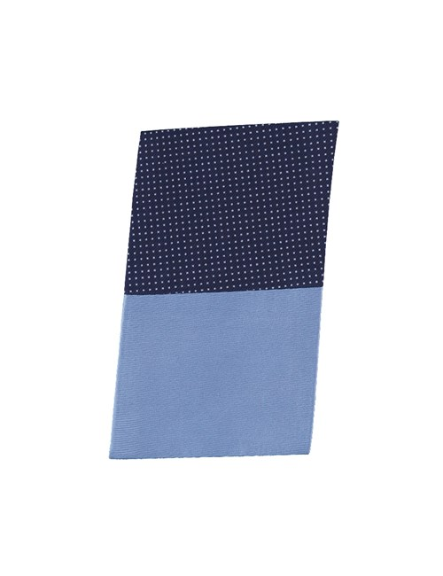 Navy & Light Blue Pin Dot Pocket Square - 100% Silk