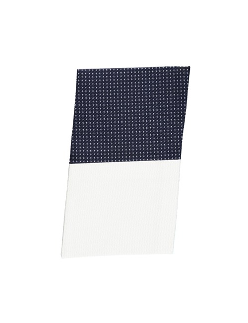 Navy & White Pin Dot Pocket Square - 100% Silk