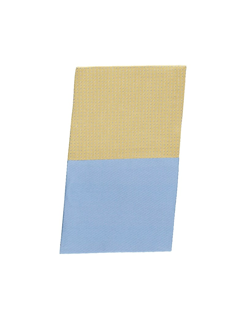 Yellow & Light Blue Pin Dot Pocket Square - 100% Silk