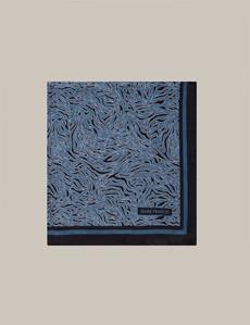 Mark Francis Kollektion - Einstecktuch aus Seide - Blau bedruckt