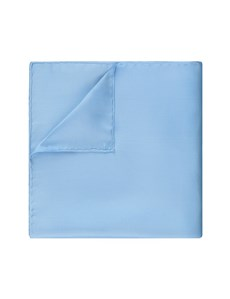 Men's Blue Pocket Square - 100% Silk