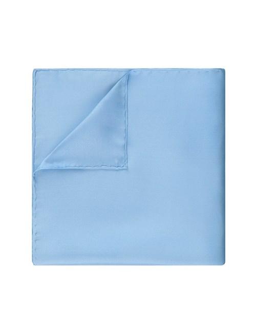 Men's Blue Pocket Square - 100% Silk