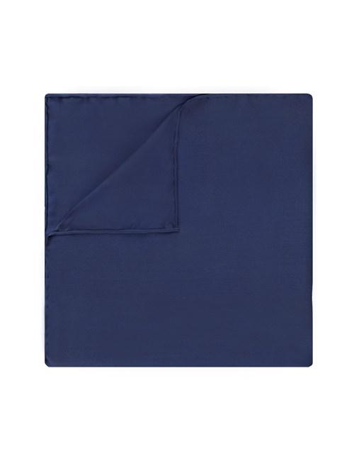 Einstecktuch aus reiner Seide - Marineblau