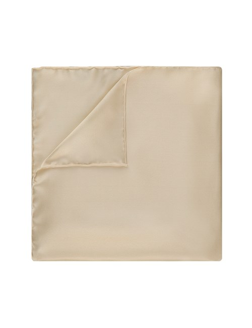 Men's Champagne Pocket Square - 100% Silk