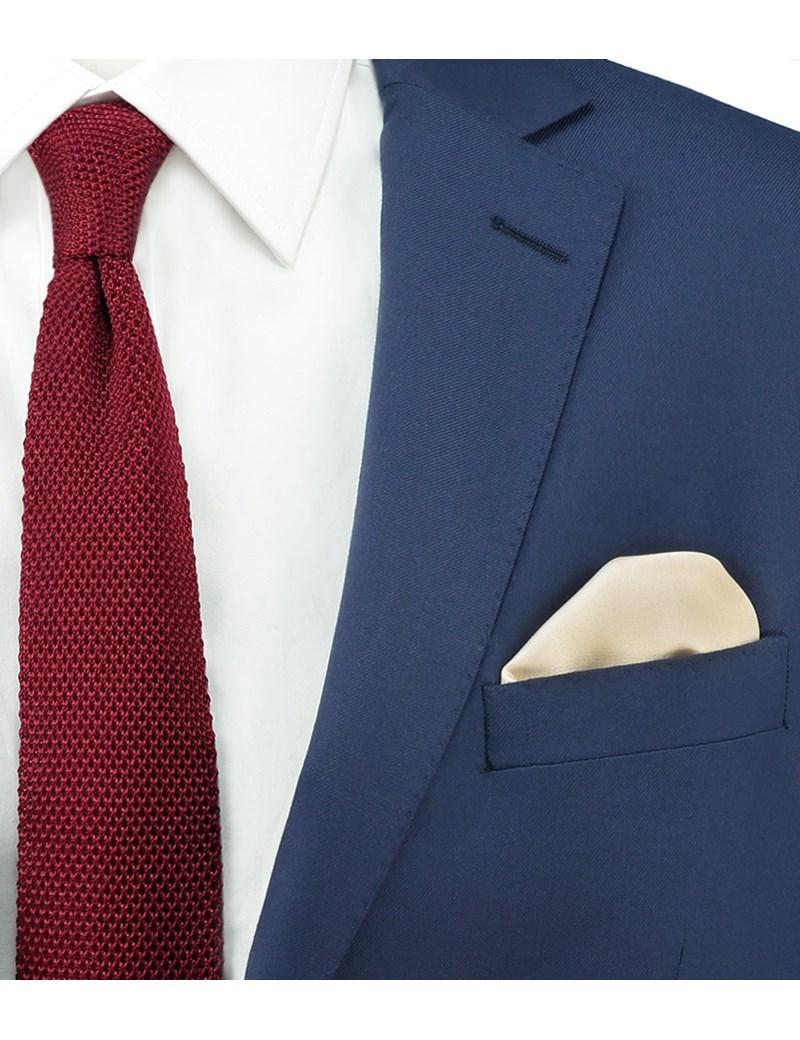 Men's Champagne Pocket Square - 100% Silk