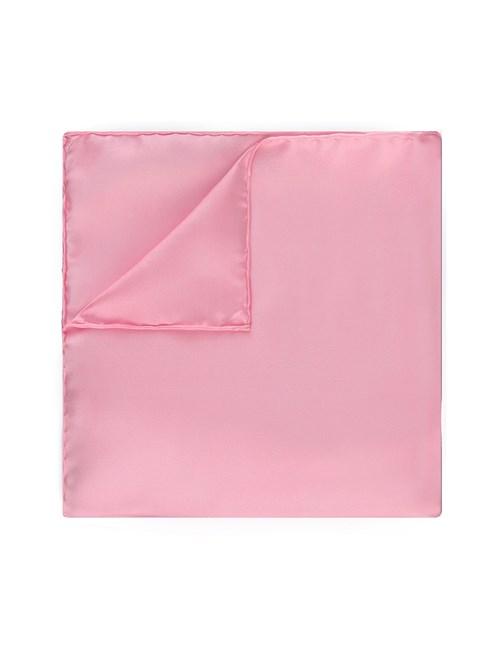 Men's Pink Pocket Square - 100% Silk