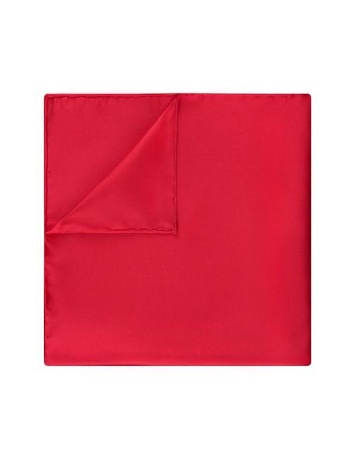 Einstecktuch aus Seide - Rot