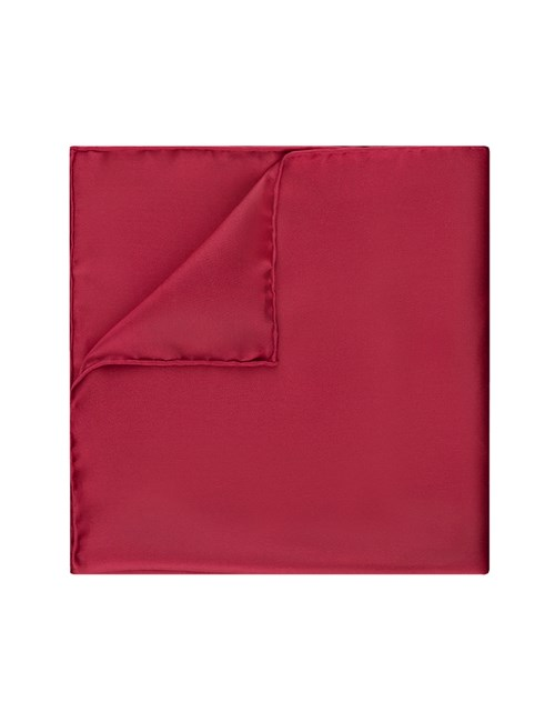 Men's Burgundy Pocket Square - 100% Silk