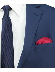 Men's Burgundy Pocket Square - 100% Silk