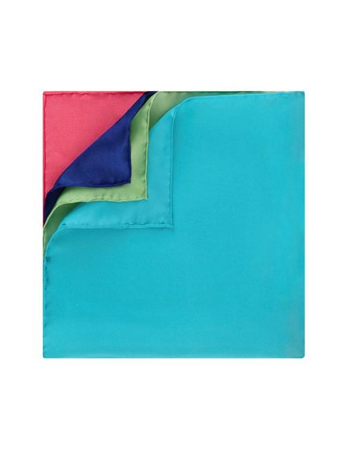 Einstecktuch - Seide - 4 farbig koralle