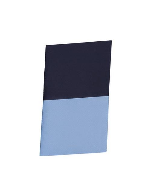 Men's Lt Blue & Navy 100% Silk Pocket Square