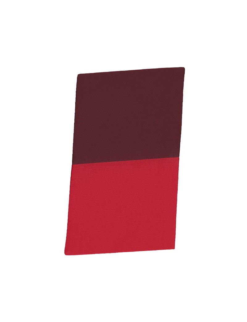 Men's Red & Wine 100% Silk Pocket Square