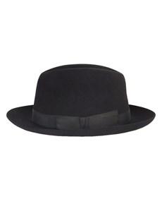Black Epsom Trilby Hat