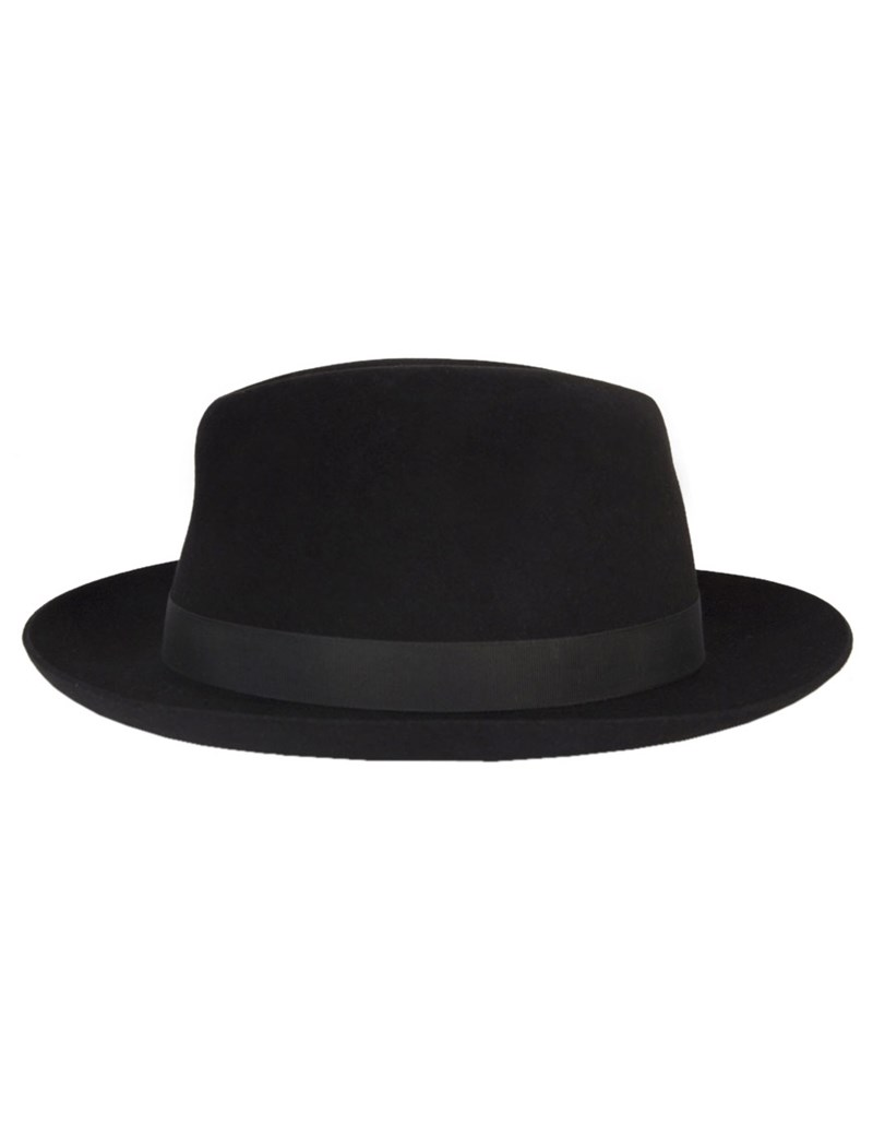 Black Epsom Trilby Hat