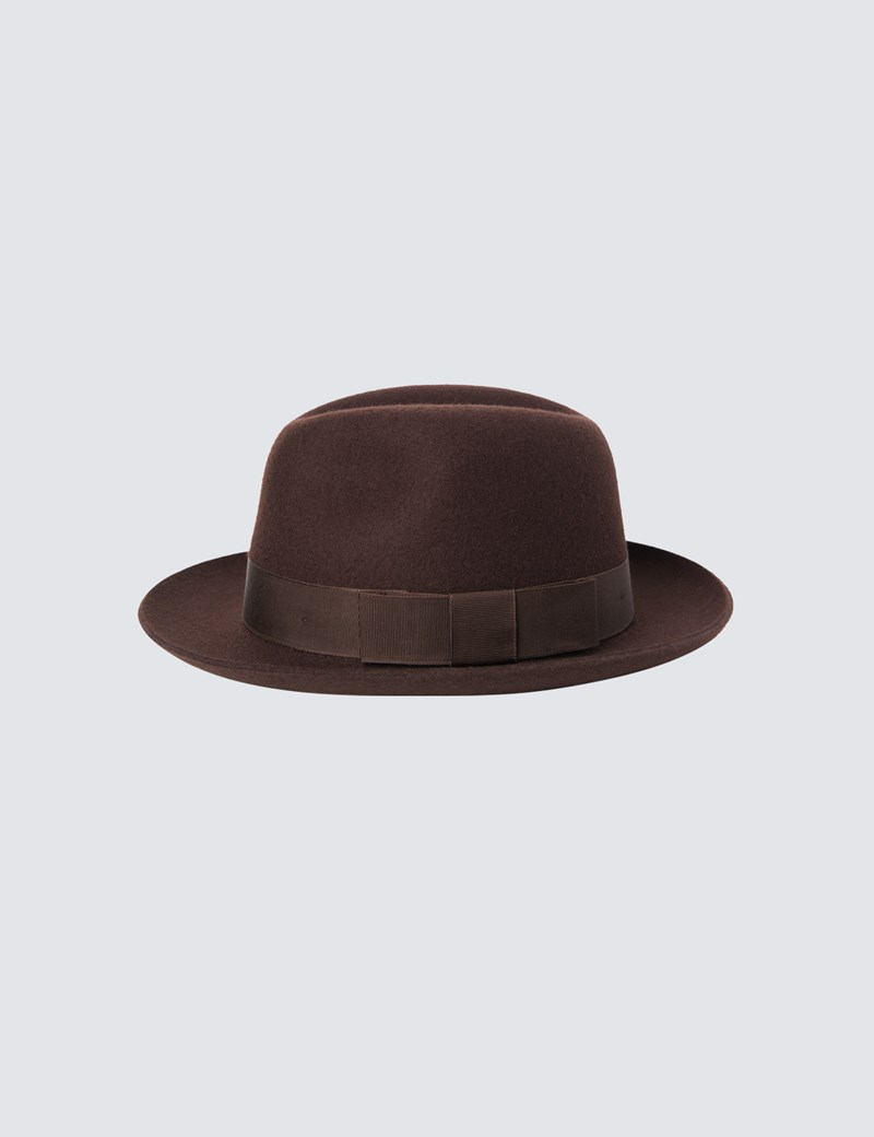 Men's Brown Trilby Hat