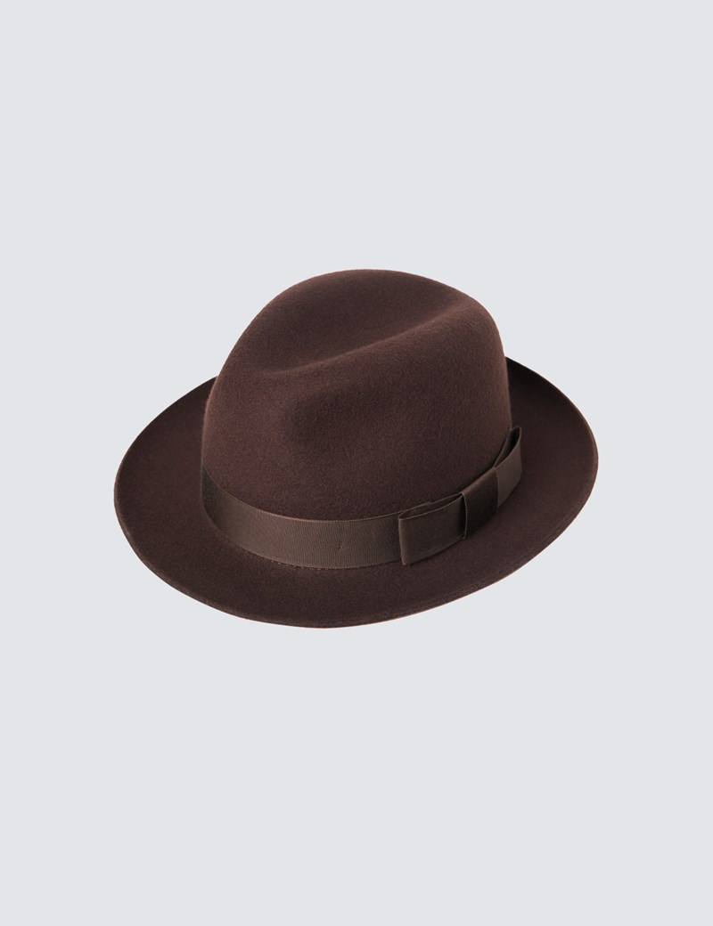 21a762be Men's Brown Trilby Hat