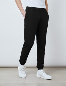 Black Garment Dye Organic Cotton Sweatpants