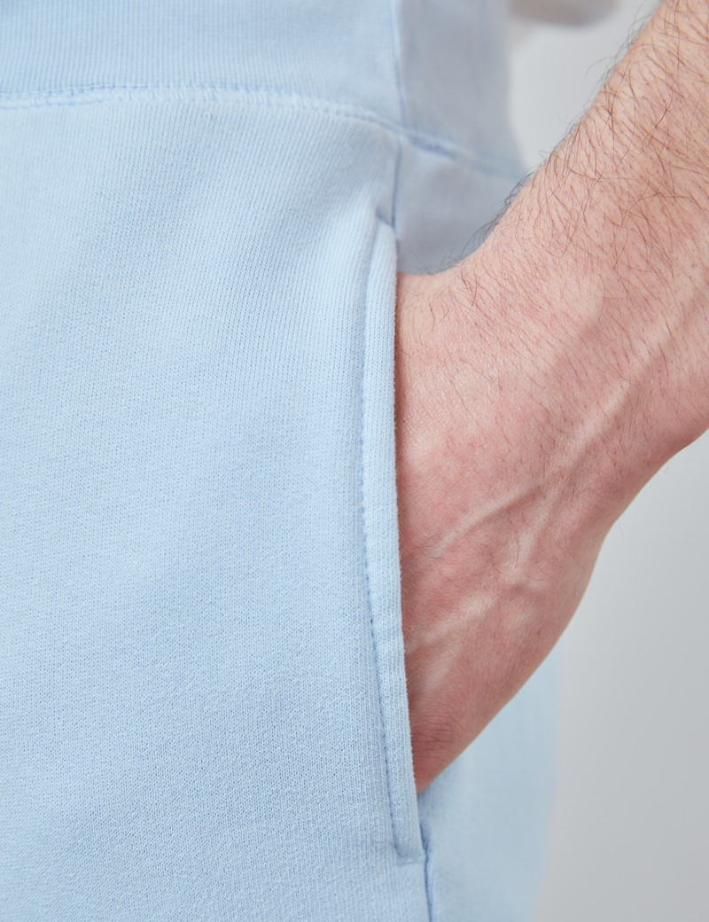 Light Blue Garment Dye Organic Cotton Sweatpants