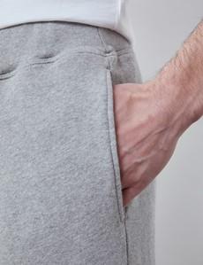 Light Grey Marl Garment Washed Organic Cotton Sweatpants