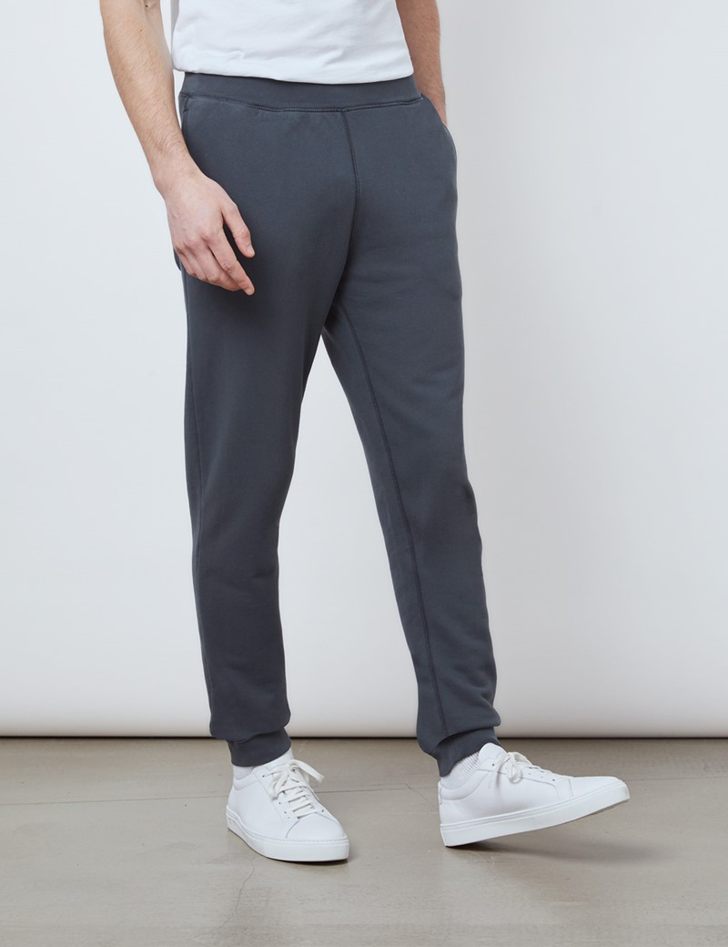 Dark Grey Garment Dye Organic Cotton Sweatpants