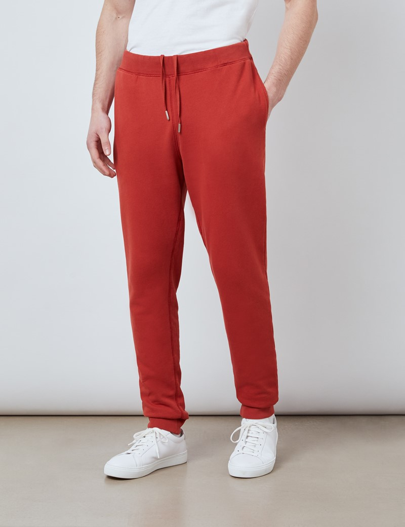 Lounge Sweatpants – Garment Dye – Bio-Baumwolle – Rost Orange