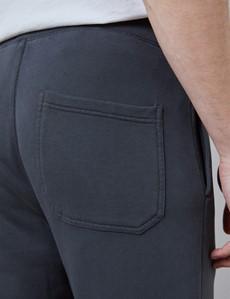 Dark Grey Garment Dye Organic Cotton Sweatpants