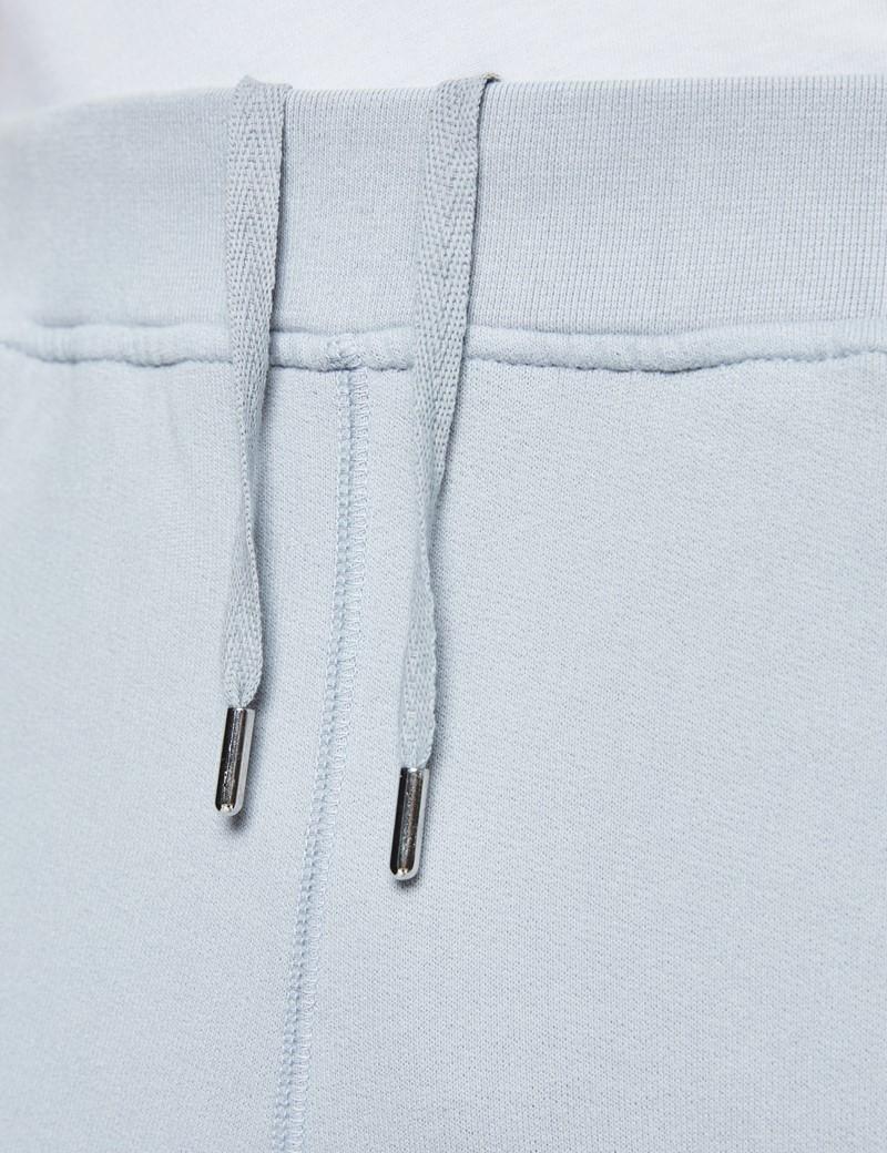 Light Grey Garment Dye Organic Cotton Sweatpants