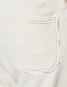 Cream Garment Dye Organic Cotton Sweatpants