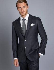1913 Kollektion – Luxuriöser Anzug aus 110S Schurwolle – Tailored Fit – Gitterkaro dunkelblau & blau