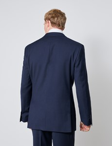 Men's Navy Tonal Check Classic Fit Suit