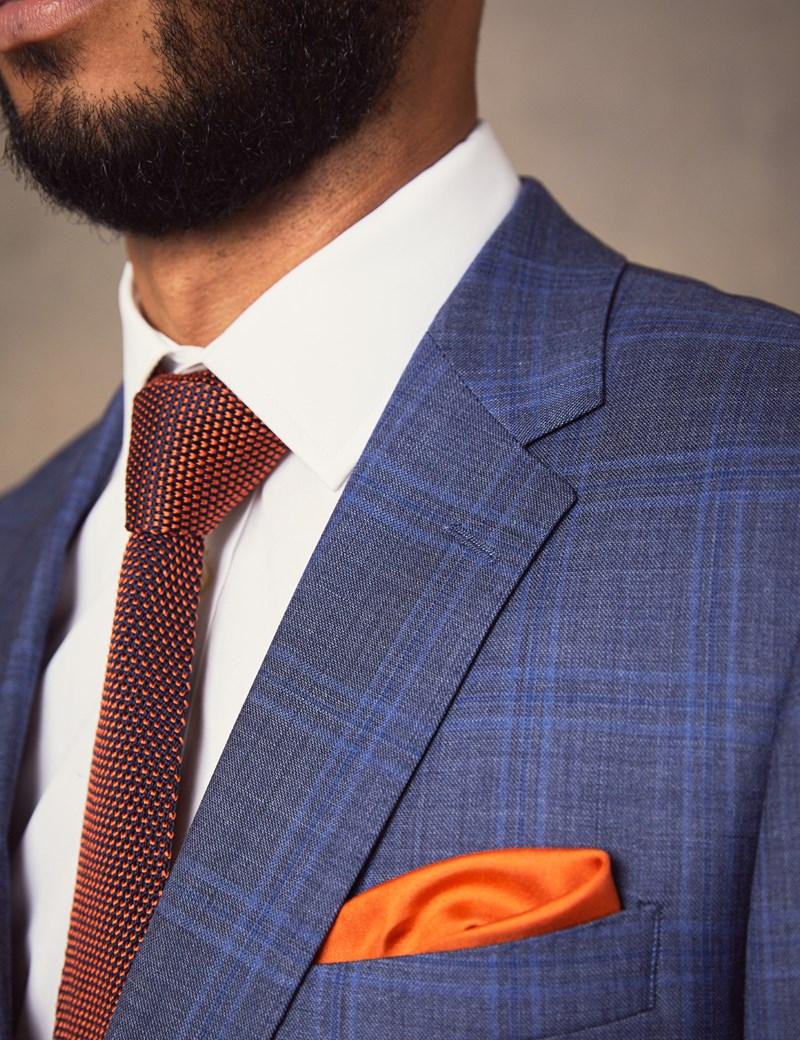 Men's Blue Two Tone Check Slim Fit Suit
